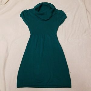 TakeOut Teal Cowl Neck Dress